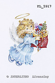Interlitho, Theresa, CHRISTMAS CHILDREN, paintings, angel, toys, KL5917,#xk# stickers stickers