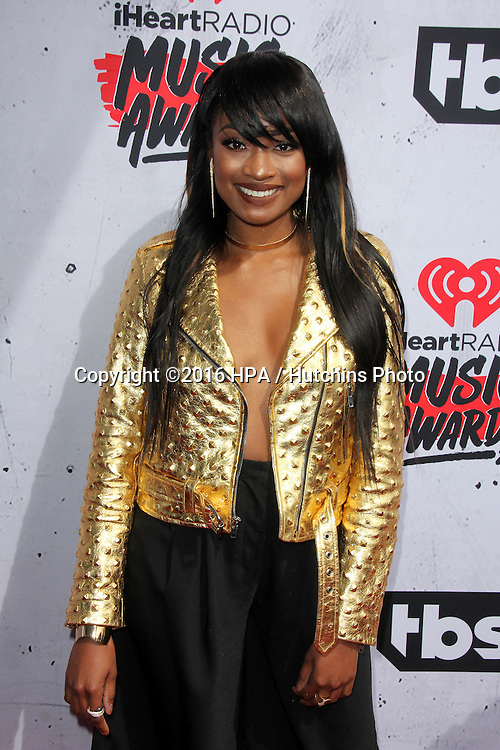 LOS ANGELES - APR 3:  Kayla Brianna at the iHeart Radio Music Awards 2016 Arrivals at the The Forum on April 3, 2016 in Inglewood, CA
