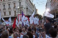 Elezioni in Grecia.  Manifestazione finale di Syriza prima delle elezioni legislative, 14 giugno a Atene in piazza Omonia.