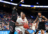 NWA Democrat-Gazette/CHARLIE KAIJO Arkansas Razorbacks forward Adrio Bailey (2) looks to take a shot during the Southeastern Conference Men's Basketball Tournament, Thursday, March 8, 2018 at Scottrade Center in St. Louis, Mo.