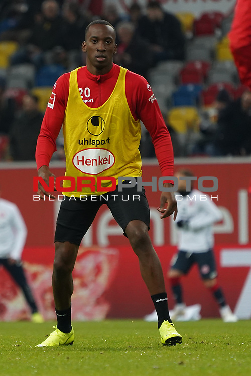 30.11.2018, Merkur Spielarena, Duesseldorf , GER, 1. FBL,  Fortuna Duesseldorf vs. 1.FSV Mainz 05,<br />  <br /> DFL regulations prohibit any use of photographs as image sequences and/or quasi-video<br /> <br /> im Bild / picture shows: <br /> Dodi Lukebakio (Fortuna Duesseldorf #20),  <br /> Foto © nordphoto / Meuter