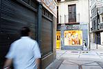 Estella-Lizarra.Navarra.Espana.Estella-Lizarra.Navarra.Spain.Cruce de las Calle Mayor y la Calle Comercio..Intersection of Mayor Street and Comercio Street..(ALTERPHOTOS/Alfaqui/Acero)