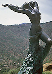 NUDE FEMALE STATUE AT OLD MINGUS ART CENTER