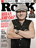 CLASSIC ROCK - Front Cover of Brian Johnson.  Photo credit: Ashley Maile Archive/IconicPix