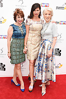 Kathy Lette, Roni Ancona and Joanna Trollope<br /> at the South Bank Sky Arts Awards 2017, Savoy Hotel, London. <br /> <br /> <br /> ©Ash Knotek  D3288  09/07/2017