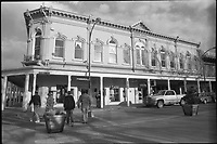 Downtown Winslow Arizona. Plus-X B&W Film Scan