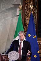 Roma,14 Marzo 2017<br /> Paolo Gentiloni.<br /> Presentazione della 25ma edizione delle 'Giornate Fai di Primavera' a Palazzo Chigi