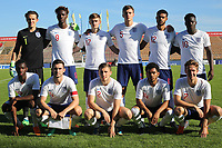 England Under 21 Team Photo. Back Row (L-R) Freddie Woodman, Tammy Abraham, Callum Connolly, Dael Fry, Jake Clarke-Salter, Ronaldo Vieira. Front Row (L-R) Edward Nketiah, Lewis Cook, Jonjoe Kenny, Jay DaSilva and Kieran Dowell during Mexico Under-21 vs England Under-21, Tournoi Maurice Revello Final Football at Stade Francis Turcan on 9th June 2018