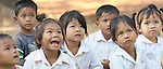 Children in a preschool sponsored by the Cambodian Children's Advocacy Foundation in Khnach, a village in the Kampot region of Cambodia.