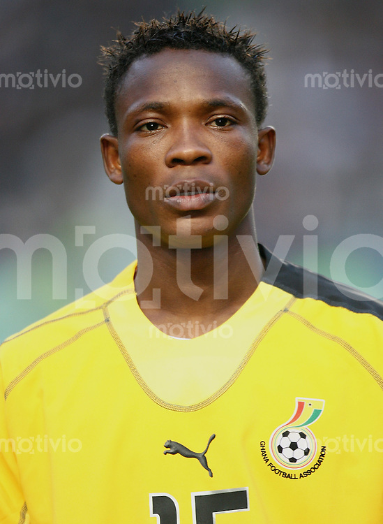 Fussball International Testspiel Tunesien 2-0 Ghana John Pantsil (GHA), Portraet