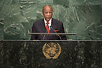 Guinea<br /> H.E. Mr. Alpha Cond&eacute;<br /> President<br /> <br /> <br /> General Assembly Seventy-first session, 17th plenary meeting<br /> General Debate
