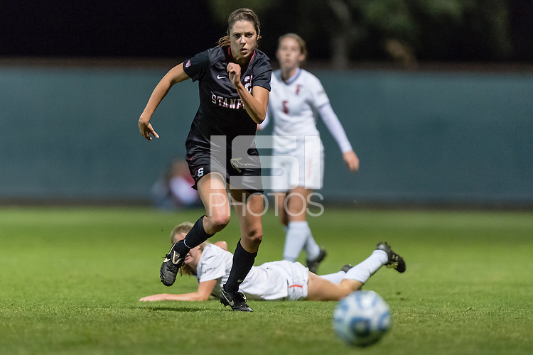 November 15, 2013: Stephanie Amack during the Stanford vs Cal State Fullerton NCAA 1st round women's soccer match in Stanford, California.  Stanford won 1-0.