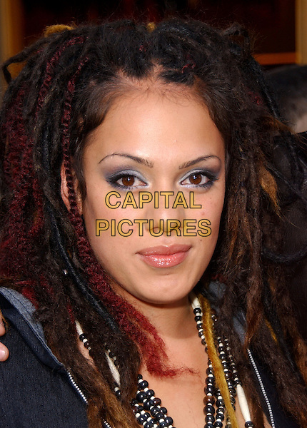 "JORDIS.Universal Pictures' Los Angeles Premiere of ""The Skeleton Key"" held at Universal City Walk in Universal City, California  .August 2nd, 2005.headshot portrait dreadlocks blue eye shadow.www.capitalpictures.com.sales@capitalpictures.com.Supplied By Capital PIctures"