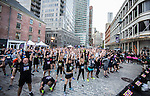 Runners participate at the Bloomberg Square Mile Relay at the Seaport District in New York, USA. Photo by Victor Fraile / Power Sport Images