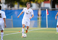 Florida International University men's soccer player Sebastian Frings (11) plays against Nova University on August 26, 2011 at Miami, Florida. FIU won the game 2-0. .