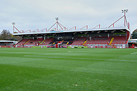 General view of the main stand ahead of Crawley Town vs Morecambe, Sky Bet EFL League 2 Football at Broadfield Stadium on 16th November 2019