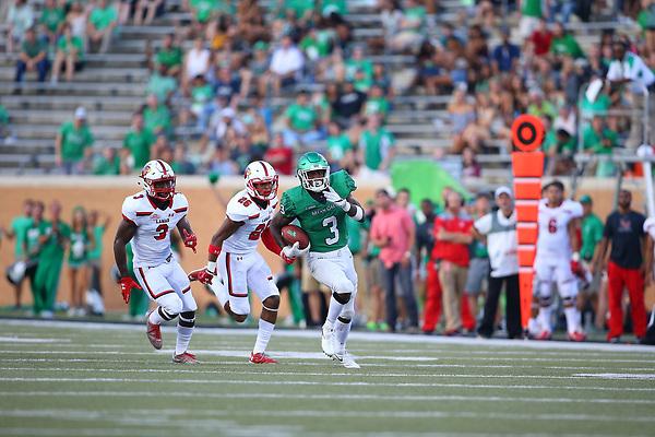 DENTON TEXAS: University of North Texas Mean Green Football v Lamar University on September 2, 2017 at Apogee Stadium in Denton TX. (Photo Rick Yeatts)