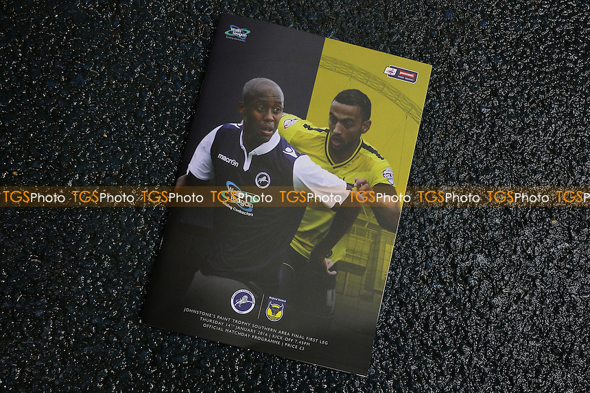 The match day programme ahead of kick-off during Millwall vs Oxford United at The Den