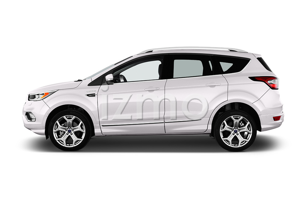 Car driver side profile view of a 2017 Ford Kuga Vignale 5 Door SUV