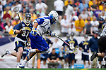 FOXBORO, MA - MAY 28: Kevin Reisman #13 of the Limestone Saints during the Division II Men's Lacrosse Championship held at Gillette Stadium on May 28, 2017 in Foxboro, Massachusetts. (Photo by Larry French/NCAA Photos via Getty Images)