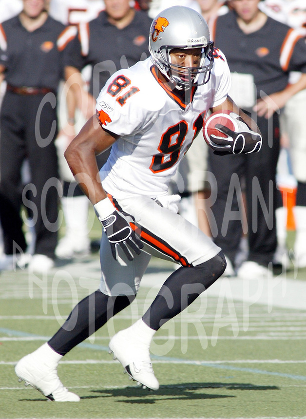 Geroy Simon BC Lions 2004. Copyright photograph Scott Grant