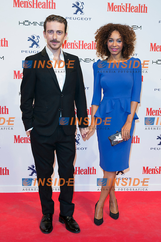 Victor Clavijo and Montse Pla attend the MENS HEALTH AWARDS at Goya Theatre in Madrid, Spain. October 28, 2014. (ALTERPHOTOS/Carlos Dafonte/Insidefoto)