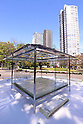 Tokujin Yoshioka displays a glass made tea house