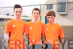 Philip Corkery, Daniel Graney, James Lynch at the Mercy Mounthawk School Fun Run to promote the Cycle Against Suicide Campaign on Friday