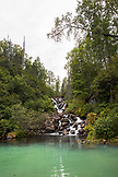 USA, Alaska, Redoubt Bay, Big River Lake, a waterfall near Wolverine Cove