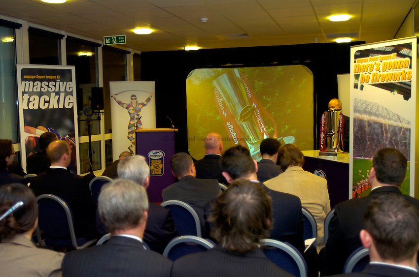 Photo: Richard Lane..Rugby League Engage Super League Launch. 07/02/2006. .Press conference GV.