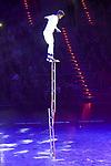 """Fasil Moges Leiterakrobatik bei der Turn Gala """"Celebration"""" in der SAP Arena Mannheim.<br /> <br /> Foto © Ruffler *** Foto ist honorarpflichtig! *** Auf Anfrage in hoeherer Qualitaet/Aufloesung. Belegexemplar erbeten. Veroeffentlichung ausschliesslich fuer journalistisch-publizistische Zwecke. For editorial use only."""