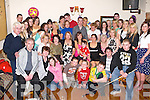 ON THE DOUBLE: Kim Pilford, Cois Li and Zoe Roche, Mitchels Av. ( seated 3rd & 4Th left ) celebrated their 50TH and 21ST birthdays together with large crowd of family and friends at the Glen Bar last Friday night..   Copyright Kerry's Eye 2008