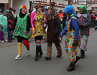 Clowns aus Hoerdt zusammen mit dem Partnerschaftsverein dabei - Büttelborn 11.02.2018: Rosensonntagsumzug der BCA