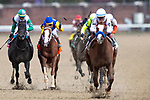 November 2, 2018: Improbable #2, ridden by Drayden Van Dyke, wins the Street Sense Stakes on Breeders' Cup World Championship Friday at Churchill Downs on November 2, 2018 in Louisville, Kentucky. Alex Evers/Eclipse Sportswire/CSM