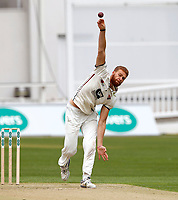 Ivan Thomas bowls for kent during day 1 of the four day tour match between Kent CCC and Pakistan at the St Lawrence Ground, Canterbury, on Sat April 28, 2018