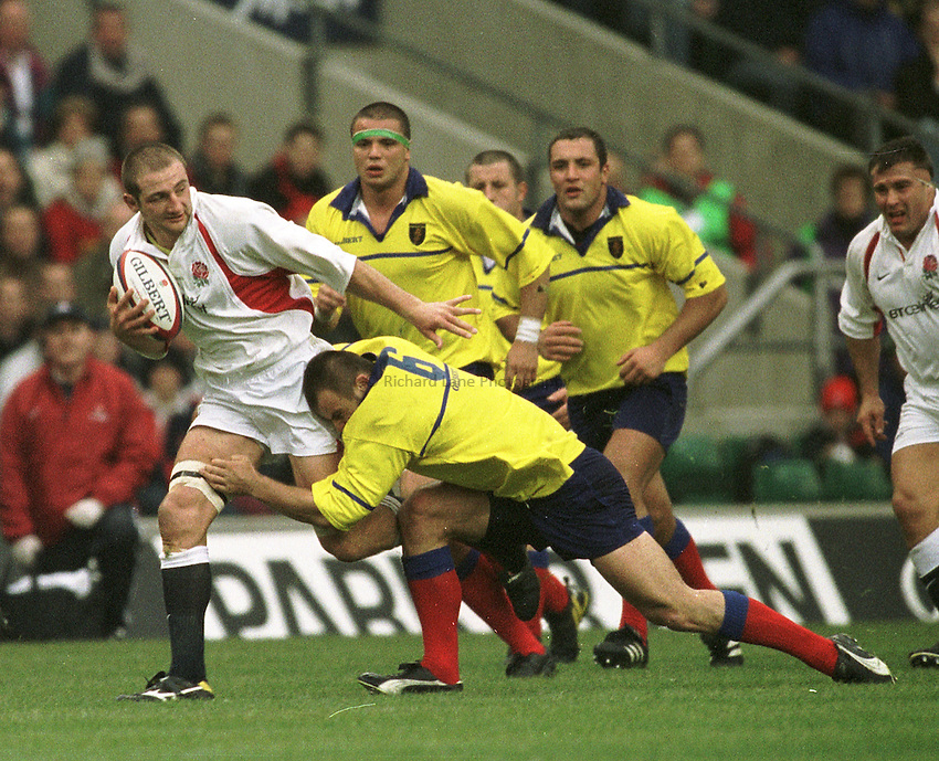 Photo Peter Spurrier..The Investec Challenge. 17th Nov 2001.England v Romania - Twickenham..Steve Borthwick.. ...........
