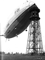 BNPS.co.uk (01202 558833)<br /> <br /> The R101 airship at a mooring mast. <br /> <br /> The tragic tale of a pioneering pilot who made the first east-west transatlantic crossing in an airship can be told after his campaign medal emerged for sale 101 years later.<br /> <br /> Major George Scott CBE, who served in the Royal Naval Air Service and RAF in World War One, made headlines in 1919 when he commanded the airship R34 for its historic voyage.<br /> <br /> The arduous flight from East Fortune in Scotland to Mineola airfield in New York took 108 hours and 12 minutes, during which they 'dodged storms and ran low on fuel and hydrogen'. He was praised for his 'cool, alert and expert handling' of the 643ft long airship, and granted an audience with the American President Woodrow Wilson. <br /> <br /> However, his life ended in tragedy 11 years later when the R101 airship crashed on its maiden overseas voyage in northern France en route to India. Forty-eight people were killed in the disaster on October 5, 1930.<br /> <br /> Now, his Victory Medal, which was discovered by the vendor in a 'junk box' of old medals, is going under the hammer with Lockdales Auctioneers, of Ipswich, Suffolk.
