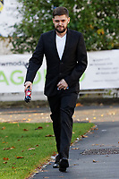 "Pictured: Daniel Ashleigh Williams arrives at Magistrates Court in Swansea, Wales, UK. <br /> Re: Daniel Ashleigh Williams, who threw a pet dog 30 feet out of a window after gaining entry into its owner's flat, has been jailed for 18 weeks by Swansea Magistrates Court, Wales, UK.<br /> Dog owner Jordanna Davies was at her sister's house when she received a text message from Daniel Ashleigh Williams on 2nd of September, who told her he was outside her house in Cilfrew, Neath. <br /> A short time later,a neighbour called her to say Williams had ""climbed into her flat"" after breaking a window.<br /> She was told he had thrown her dog, Dobbie, out of a two-storey high window, which had a drop of 30 feet.<br /> The four-and-a-half-year-old Jack Russell cross chihuahua was discovered on the road having suffered injuries to his legs and hip."