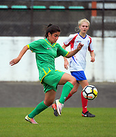 Rose Morton in action during the National Women's League football match between Central and Auckland at the Memorial Park in Palmerston North, New Zealand on Sunday, 5 November 2017. Photo: Dave Lintott / lintottphoto.co.nz