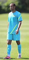LONDRES, INGLATERRA, 24 JULHO 2012 - TREINO SELECAO BRASILEIRA - Lucas jogador da Seleção Brasileira Olimpíca de futebol, durante treino para a partida contra o Egito, válida pela primeira rodada do Grupo C das Olimpíadas de Londres 2012, na Inglaterra. Treino no CT do Arsenal em Londres. (FOTO: GUILHERME DE ALMEIDA / BRAZIL PHOTO PRESS).