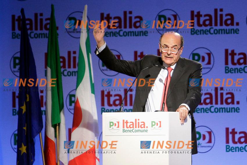 Pierluigi Bersani.Roma 06/10/2012 Hotel Ergife. Assemblea Nazionale del PD, Partito Democratico.Photo Samantha Zucchi Insidefoto
