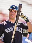 11 March 2014: New York Yankees first baseman Mark Teixeira awaits his turn in the batting cage prior to a Spring Training game against the Washington Nationals at Space Coast Stadium in Viera, Florida. The Nationals defeated the Yankees 3-2 in Grapefruit League play. Mandatory Credit: Ed Wolfstein Photo *** RAW (NEF) Image File Available ***