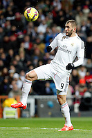 Benzema of Real Madrid during La Liga match between Real Madrid and Sevilla at Santiago Bernabeu Stadium in Madrid, Spain. February 04, 2015. (ALTERPHOTOS/Caro Marin) /NORTEphoto.com