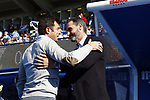 CD Leganes's Luis Cembranos and Vicente Moreno, head coach of Mallorca during La Liga match. Oct 26, 2019. (ALTERPHOTOS/Manu R.B.)