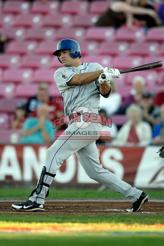 Kent Matthes of the Tri-City Dust Devils in the Northwest League championship game against the Salem-Keizer Volcanoes at Volcanoes Stadium - 9/10/2009..Photo by:  Bill Mitchell/Four Seam Images..