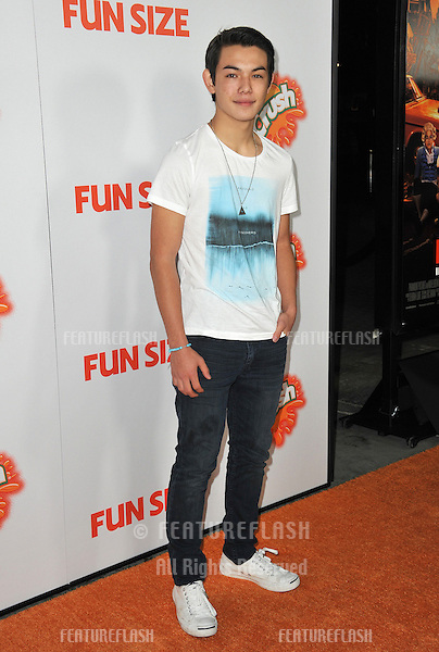 "Ryan Potter at the Los Angeles premiere of ""Fun Size"" at the Paramount Theatre, Hollywood..October 25, 2012  Los Angeles, CA.Picture: Paul Smith / Featureflash"