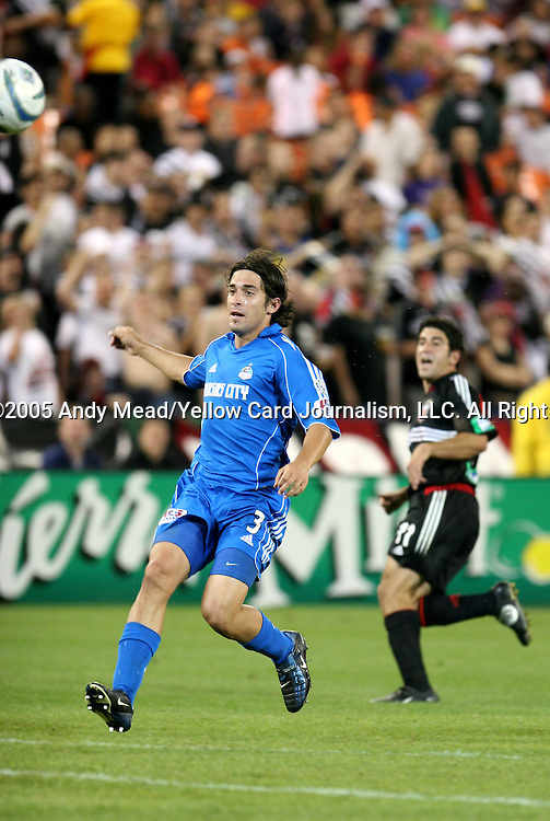 21 May 2005: Nick Garcia (3) and Alecko Eskandarian (11). DC United defeated the Kansas City Wizards 3-2 at RFK Stadium in Washington, DC in a regular season Major League Soccer game. . .