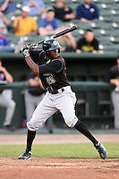 Kane County Cougars outfielder Trey Martin (25) at bat during a game against the Peoria Chiefs on June 2, 2014 at Dozer Park in Peoria, Illinois.  Peoria defeated Kane County 5-3.  (Mike Janes/Four Seam Images)