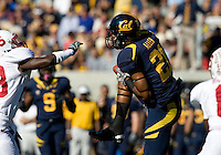 Keenan Allen of California catches the pass from California quarterback Zach Maynard during 115th Big Game against Stanford at Memorial Stadium in Berkeley, California on October 20th, 2012.  Stanford defeated California, 21-3.