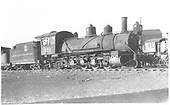 3/4 view of K-27 #451 at Alamosa scrapping operation.<br /> D&amp;RGW  Alamosa, CO